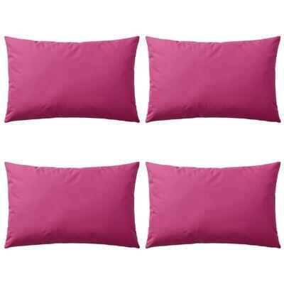 vidaXL Vrtni jastuci 4 kom 60 x 40 cm ružičasti