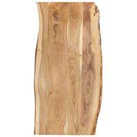 vidaXL Stolna ploča od masivnog bagremovog drva 120 x (50-60) x 2,5 cm