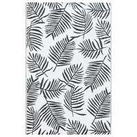 vidaXL Vanjski tepih bijelo-crni 160 x 230 cm PP