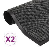 vidaXL Otirači za prašinu 2 kom pravokutni čupavi 40 x 60 cm antracit