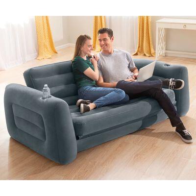 Intex fotelja na razvlačenje 203 x 231 x 66 cm tamnosiva