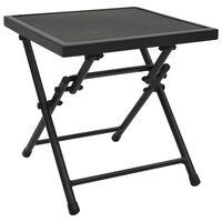vidaXL Sklopivi mrežasti stol 38 x 38 x 38 cm čelični antracit