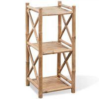 Kvadratne police od bambusa s 3 razine