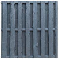 vidaXL Panel za ogradu od borovine 180 x 180 cm sivi