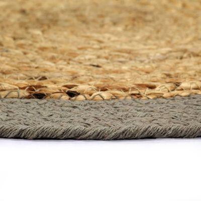 vidaXL Podmetači 4 kom prirodna i siva boja 38 cm od jute i pamuka