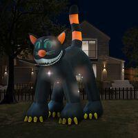 vidaXL Crna mačka na napuhavanje za Noć vještica LED XXL 6 m