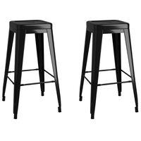 vidaXL Složivi barski stolci 2 kom crni metalni
