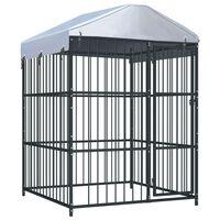 vidaXL Vanjski kavez za pse s krovom 150 x 150 x 210 cm