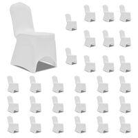 vidaXL Navlake za stolice rastezljive bijele 30 kom