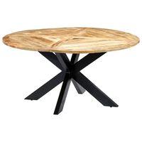 vidaXL Blagovaonski stol okrugli 150 x 76 cm od masivnog drva manga