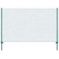vidaXL Ograda od žičane mreže sa stupovima čelična 25 x 2 m zelena