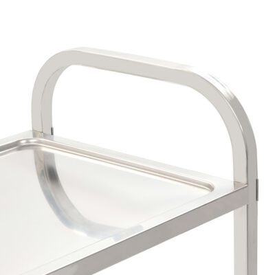 vidaXL Kuhinjska kolica s 5 razina od nehrđajućeg čelika 107x55x147 cm