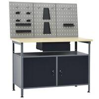 vidaXL Radni stol s tri zidne ploče