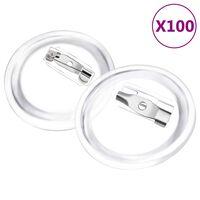 vidaXL Set gumba za značke sa sigurnosnim iglama 100 kom akrilni 25 mm