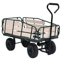 vidaXL Vrtna ručna kolica metalno-drvena 250 kg