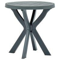 vidaXL Bistro stol zeleni Ø 70 cm plastični