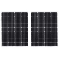 vidaXL Solarne ploče monokristalne 2 kom 100 W od aluminija i stakla
