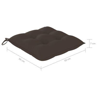 vidaXL Jastuci za stolice 2 kom smeđe-sivi 50 x 50 x 7 cm od tkanine