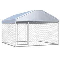 vidaXL Vanjski kavez za pse s krovom 200 x 200 x 135 cm