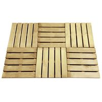 vidaXL Pločice za trijem 6 kom 50 x 50 cm drvene zelene