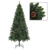 vidaXL Umjetno božićno drvce sa šiškama zeleno 180 cm