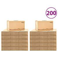 vidaXL Kutije za selidbu kartonske XXL 200 kom 60 x 33 x 34 cm