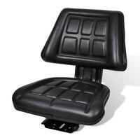 vidaXL Traktorsko Sjedalo s Naslonom Crno