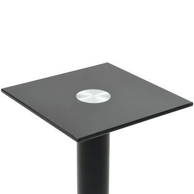 vidaXL Stalak za zvučnike od kaljenog stakla s jednim stupom 2 kom crni