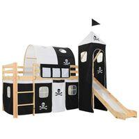 vidaXL Dječji krevet na kat s toboganom i ljestvamaborovina 97x208 cm