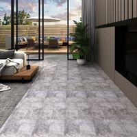 vidaXL Podne obloge od PVC-a 4,46 m² 3 mm samoljepljive cementno smeđe