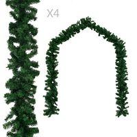 vidaXL Božićne girlande 4 kom zelene 270 cm PVC