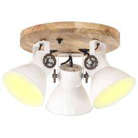 vidaXL Industrijska stropna svjetiljka 25 W bijela 42 x 27 cm E27