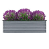 vidaXL Vrtna sadilica od pocinčanog čelika 160 x 40 x 45 cm siva