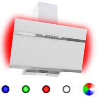 vidaXL RGB napa LED 60 cm od nehrđajućeg čelika i kaljenog stakla