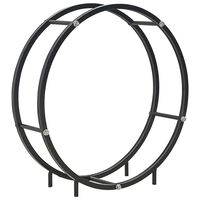 vidaXL Stalak za drva za ogrjev crni 70 x 20 x 70 cm čelični