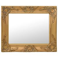 vidaXL Zidno ogledalo u baroknom stilu 50 x 40 cm zlatno