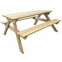 vidaXL Stol za piknik 150 x 135 x 71,5 cm drveni