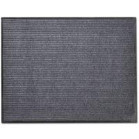 Sivi otirač protiv klizanja za vrata 90 x 120 cm