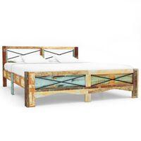 vidaXL Okvir za krevet od masivnog obnovljenog drva 140 x 200 cm