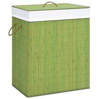 vidaXL Košara za rublje od bambusa zelena 83 L