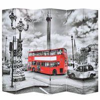vidaXL Sklopiva sobna pregrada 228 x 170 cm slika londonskog autobusa