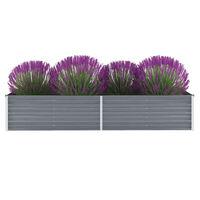 vidaXL Vrtna sadilica od pocinčanog čelika 240 x 80 x 45 cm siva