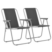 vidaXL Sklopive stolice za kampiranje 2 kom 52 x 59 x 80 cm sive