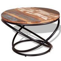 vidaXL Stolić za kavu od masivnog obnovljenog drva 60 x 60 x 40 cm
