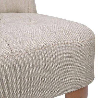 vidaXL Fotelja u Francuskom Stilu Krem Tkanina