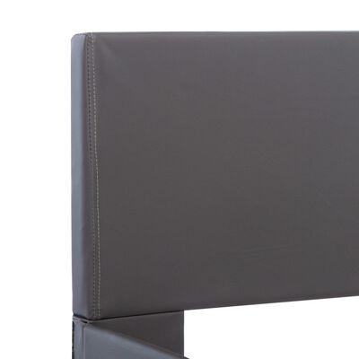 vidaXL Okvir za krevet od umjetne kože sivi 180 x 200 cm