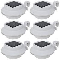Bijela vanjska solarna svjetiljka zidna svjetiljka 6 kom