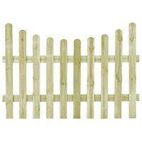 vidaXL Vrtna vrata od impregnirane borovine 170 x 120 cm