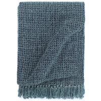 vidaXL Pamučni pokrivač 125 x 150 cm indigo plavi