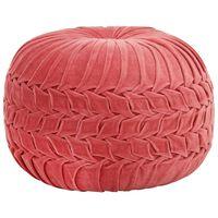 vidaXL Tabure od pamučnog baršuna nabrani dizajn 40 x 30 cm ružičasti
